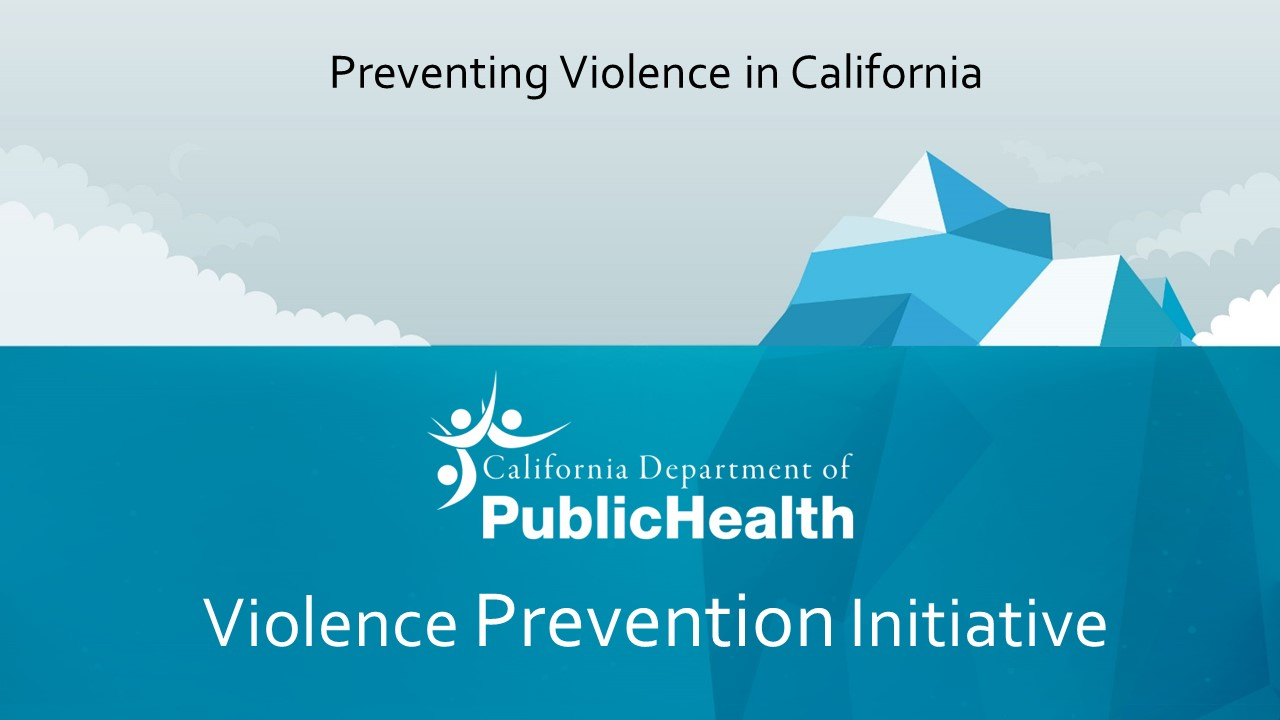 Violence Prevention Report Cover Page with Iceberg